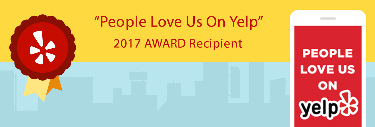 People Love Us on Yelp! 2017 Award Recipient